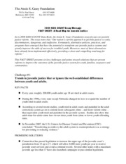 Final 2008 Juvenile Justice Fact Sheet Anne E Casey Foundation