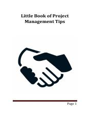 LittleBookOfProjectManagementTips