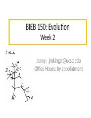 BIEB 150 Section, Week 2 Email