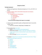Backup of 106 test 1 Antepartum Notes Caitlyn.docx