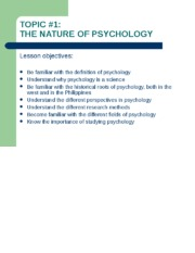 the nature of psychology - upload.ppt