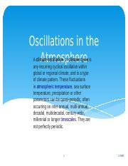 Lecture 14 Oscillations in the Atmosphere