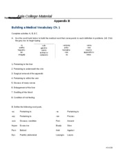 Building a Medical Vocabulary Ch1