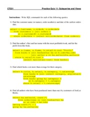 Quiz 11 Practice - Subqueries and Views--with Solutions.pdf