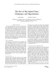 The Era of Big Spatial Data Challenges and Opportunities