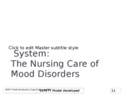 Nursing 411 care of patients with mood disorders