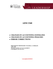 ADM3340 - CHAPTER 21 HANDOUT QUESTIONS - FALL 2015