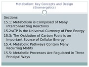 MCB 3410 Cell Metabolism Chapter 15 Updated