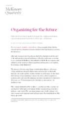 Case Study No 2 - Article review - organizing for future
