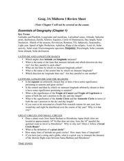 GEOG 3A study guide