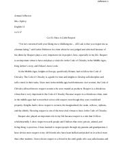 Chivalry and you essay: draft .docx