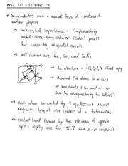 PHYS 541 Semiconductor Notes