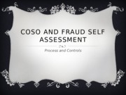 COSO and Fraud Self assessment