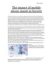 The impact of mobile phone masts in Society.docx