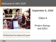 F09-Class-04-Project Startup and SDLC