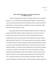 military draft research paper