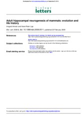 Adult hippocampal neurogenesis of mammals