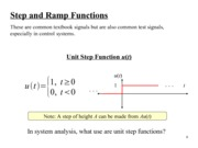 Step and Ramp Functions Notes