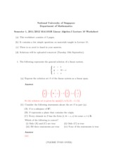 Lecture 10 Worksheet Solution