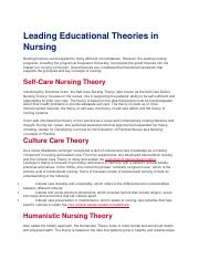 Leading Educational Theories in Nursing.doc