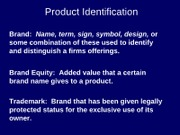 15 Product Identification