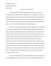 ENGL 1301 Personal Essay - The Last Time Came with Fate
