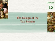 Chapter 12 - The design of the tax system