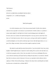 Math autobiography paper-Assignment 7.docx