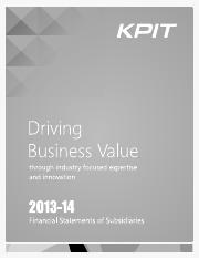 kpit-subsidiary-annual-report-2013-14