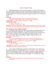 Answers to Hypothesis Testing Word 2003