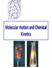 06 Molecular motion and Chemical Kinetics