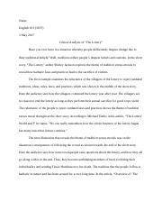 Final Essay on the lottery.docx