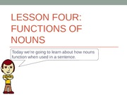 Functions of Nouns