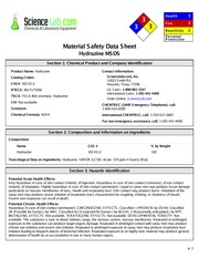 MSDS+for+Hydrazine