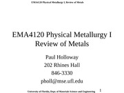 Metals Review