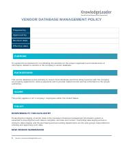 Vendor Database Management Policy.docx