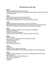 PSYC305 Final Exam Study Guide