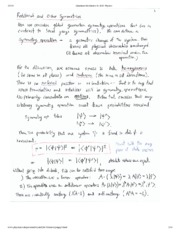 Rotational and Other Symmetry Notes