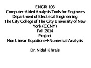 Lecture on Numerical Analysis (Part 1)