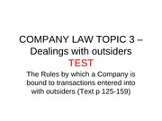 COMPANY LAW TOPIC 3