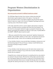 Pregnant Women Discrimination in Organizations blog