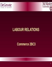 2BC3 2016 Lecture 10 - Labour Relations.ppt