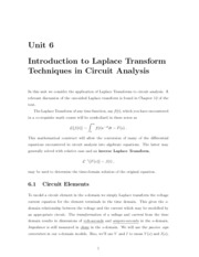 Introduction to Laplace Transform in Circuit Analysis
