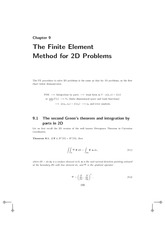 Lecture Notes E on Finite Element Method