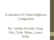 Evaluation of Highway Congestion PPT