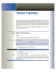 26139841-Chapter-11-Nonlinear-Programming