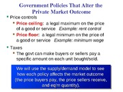 L5- Government Policies CH 6