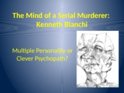 Nov 10 - The Mind of a Serial Murderer