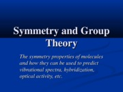 Symmetry and Group Theory