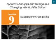 Chapter 9- Elements of Systems Design